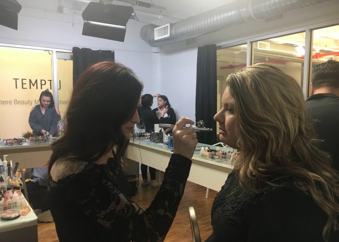 Air Brush Makeup at the Temptu Showroom